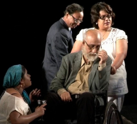 Ashok Mukhopadhyay, Paramita Mishra, Subrata Chakraborty and Ishani in 'Rape Particle'