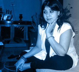 Sampa Sen in her Studio
